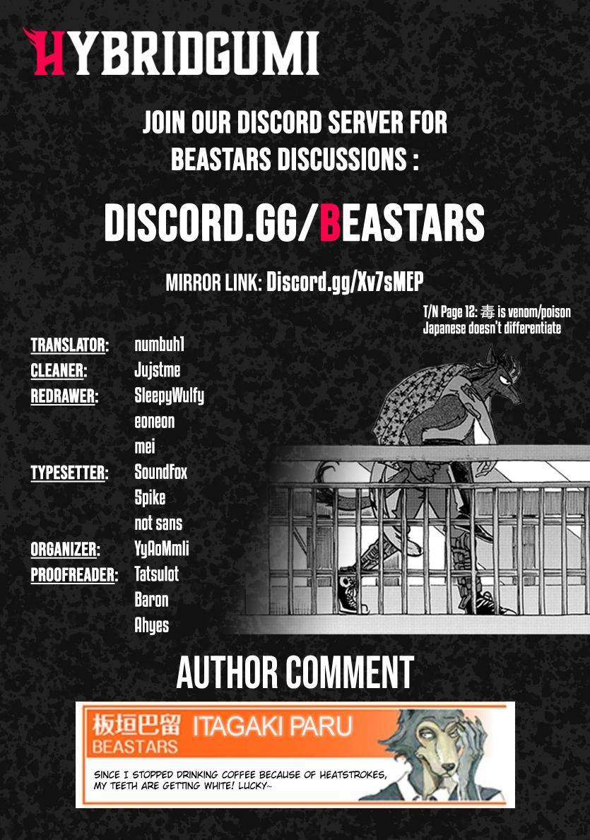 Beastars Manga, Chapter 192 image 019