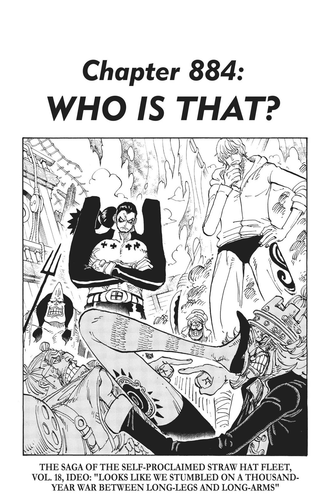 One Piece, Chapter 884 image 001