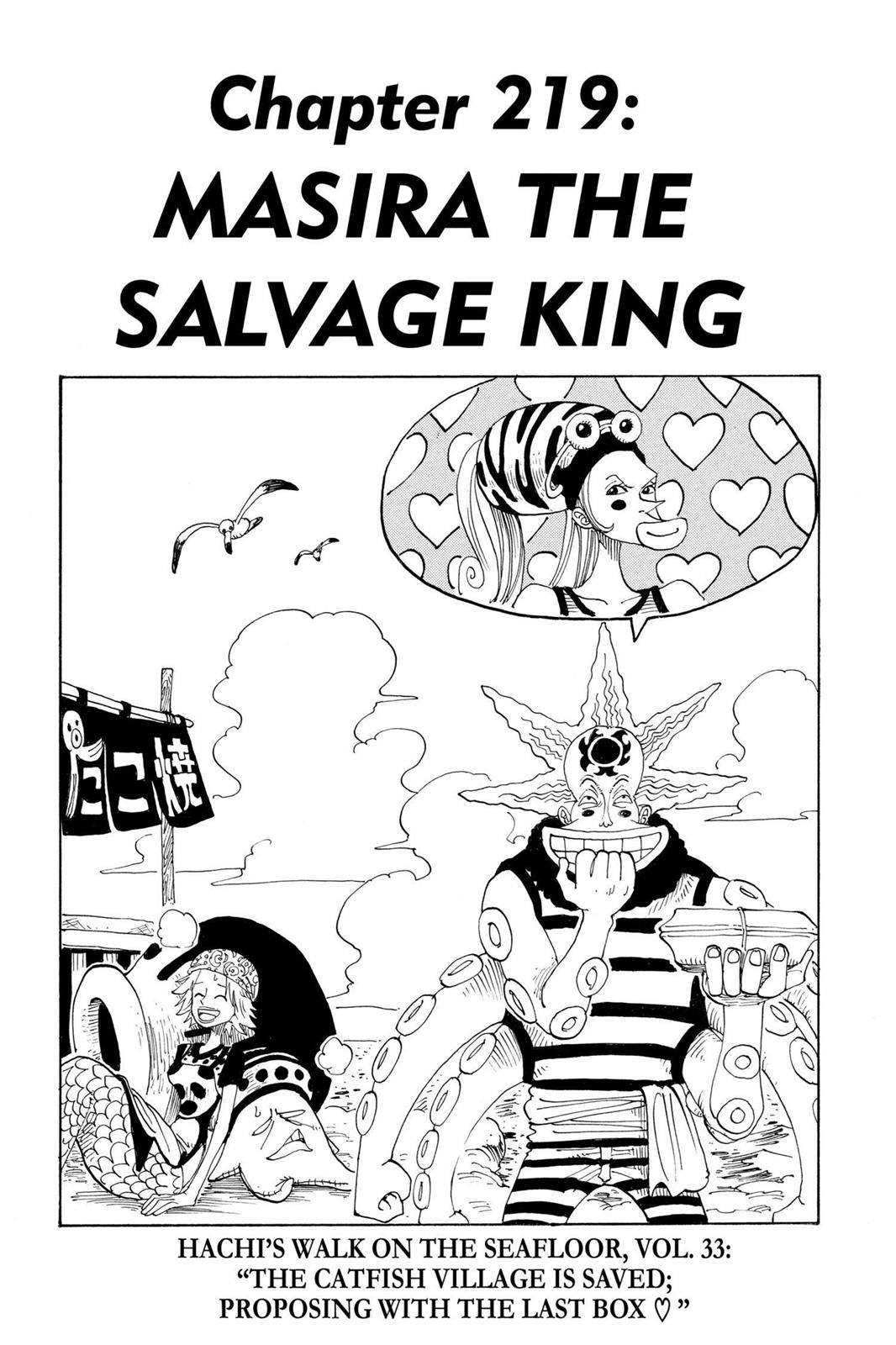 One Piece, Chapter 219 image 001