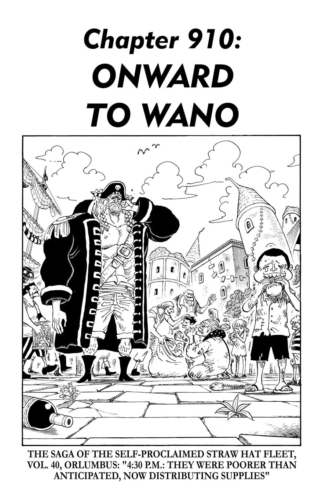 One Piece, Chapter 910 image 001
