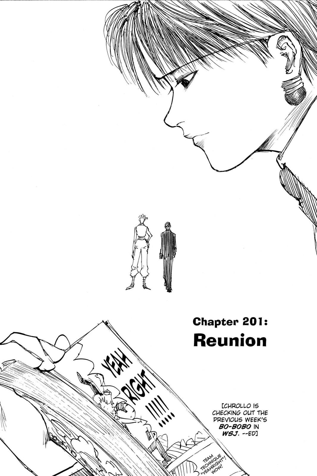 Hunter X Hunter, Chapter 201 image 001