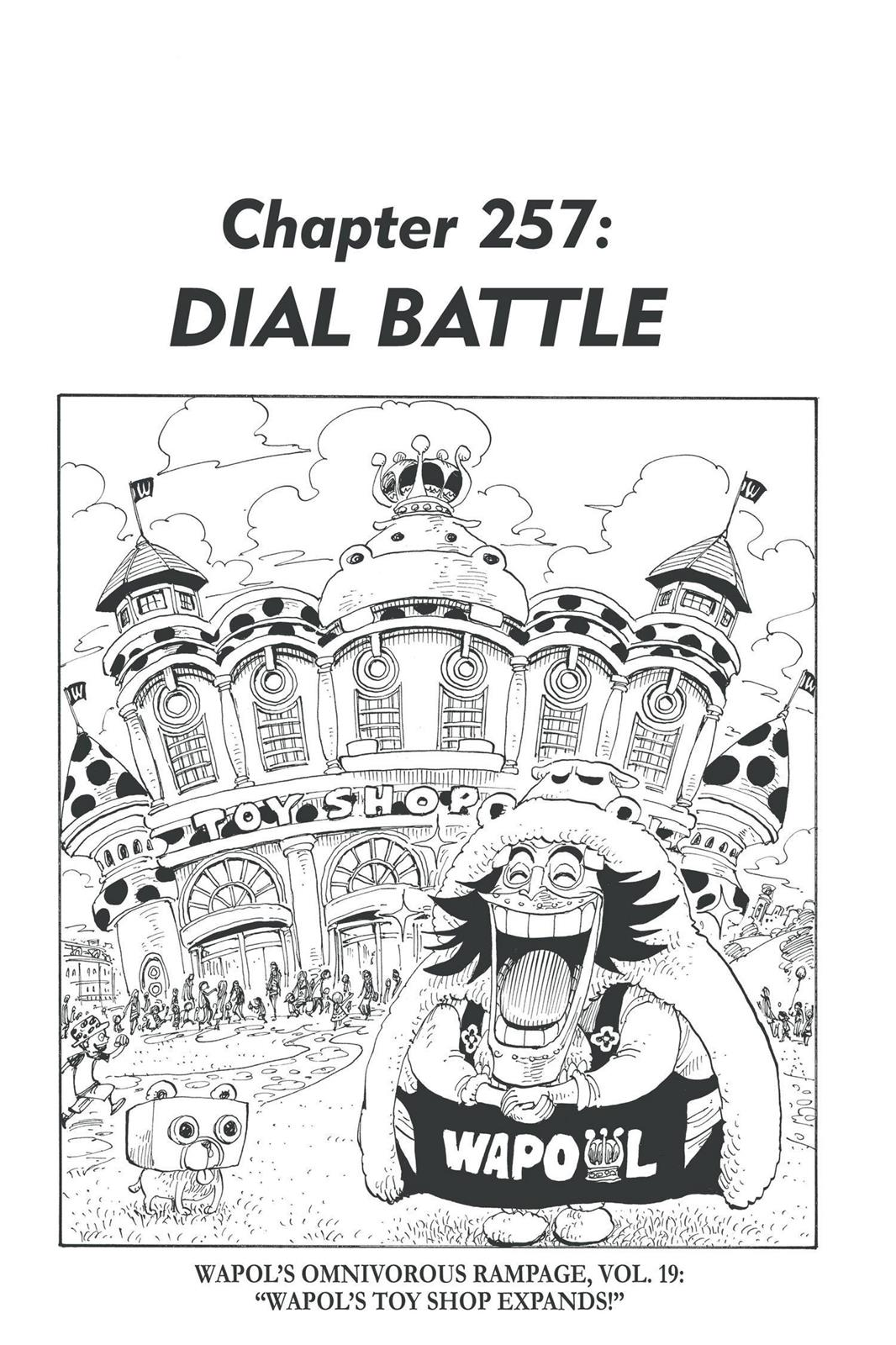One Piece, Chapter 257 image 001
