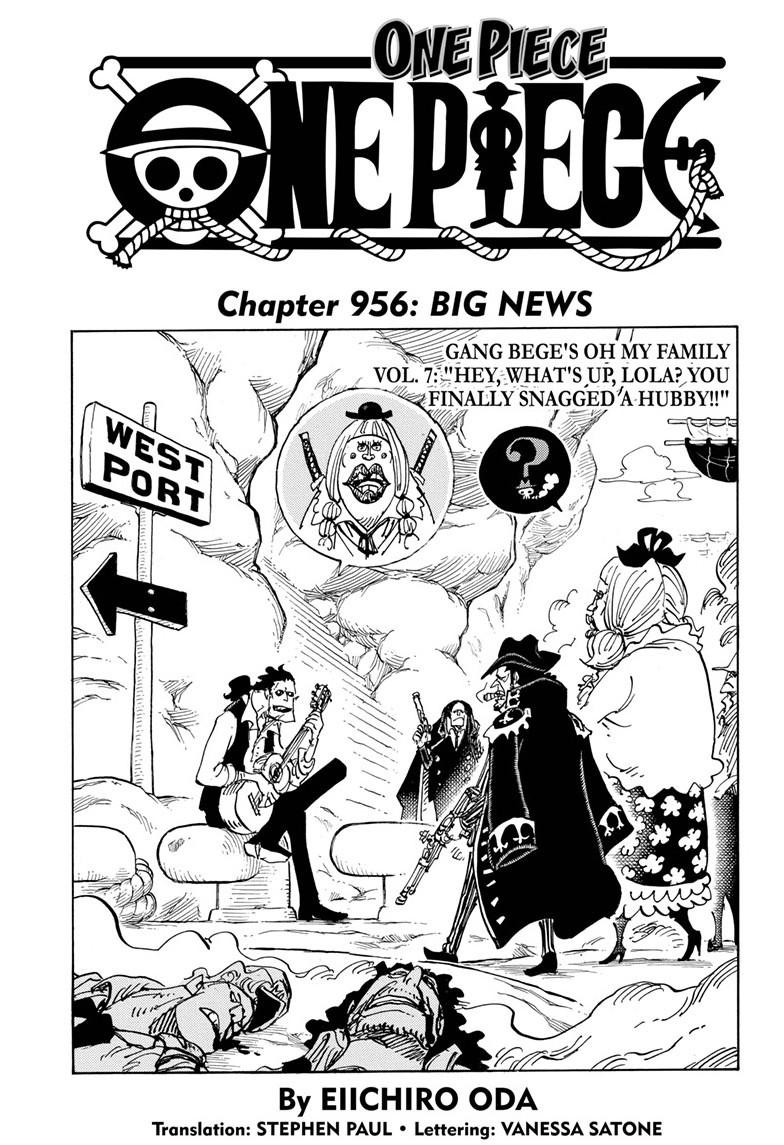 One Piece, Chapter 956 image 001