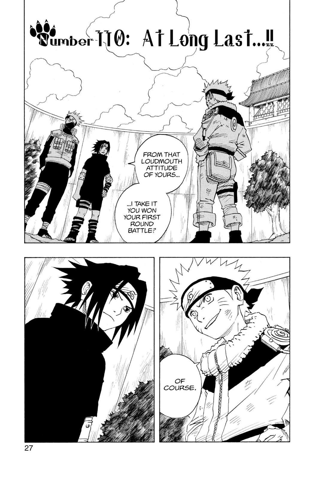 Naruto, Chapter 110 image 001