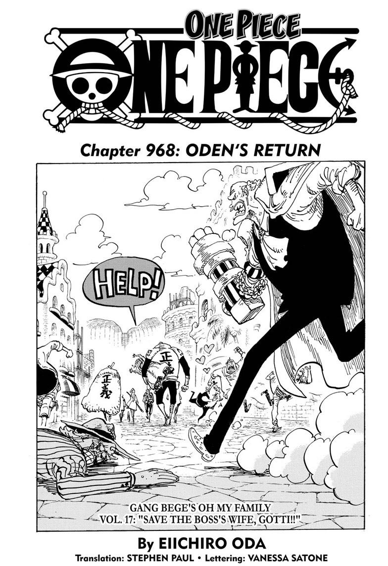One Piece, Chapter 968 image 001