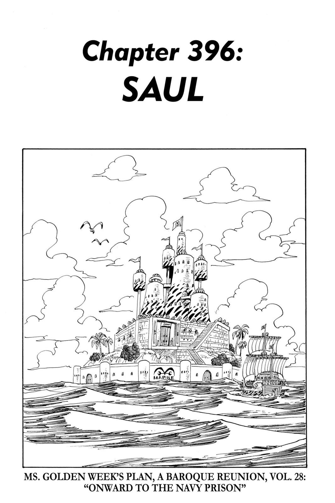One Piece, Chapter 396 image 001