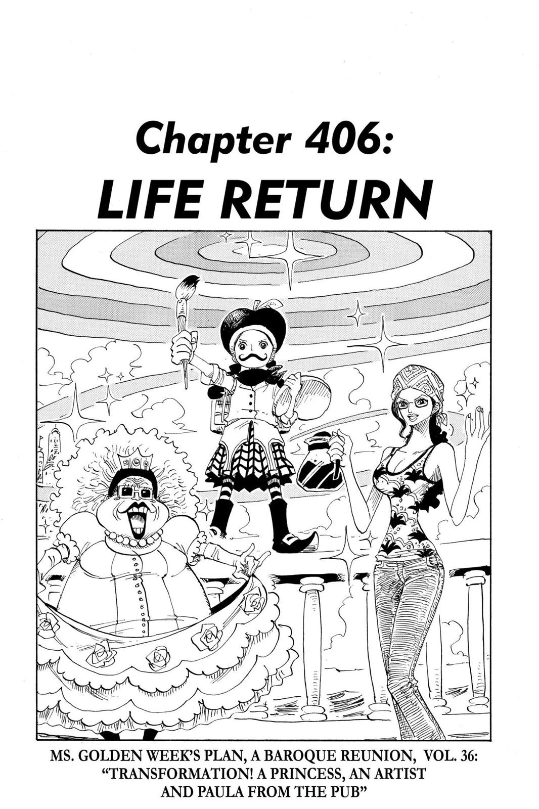 One Piece, Chapter 406 image 001