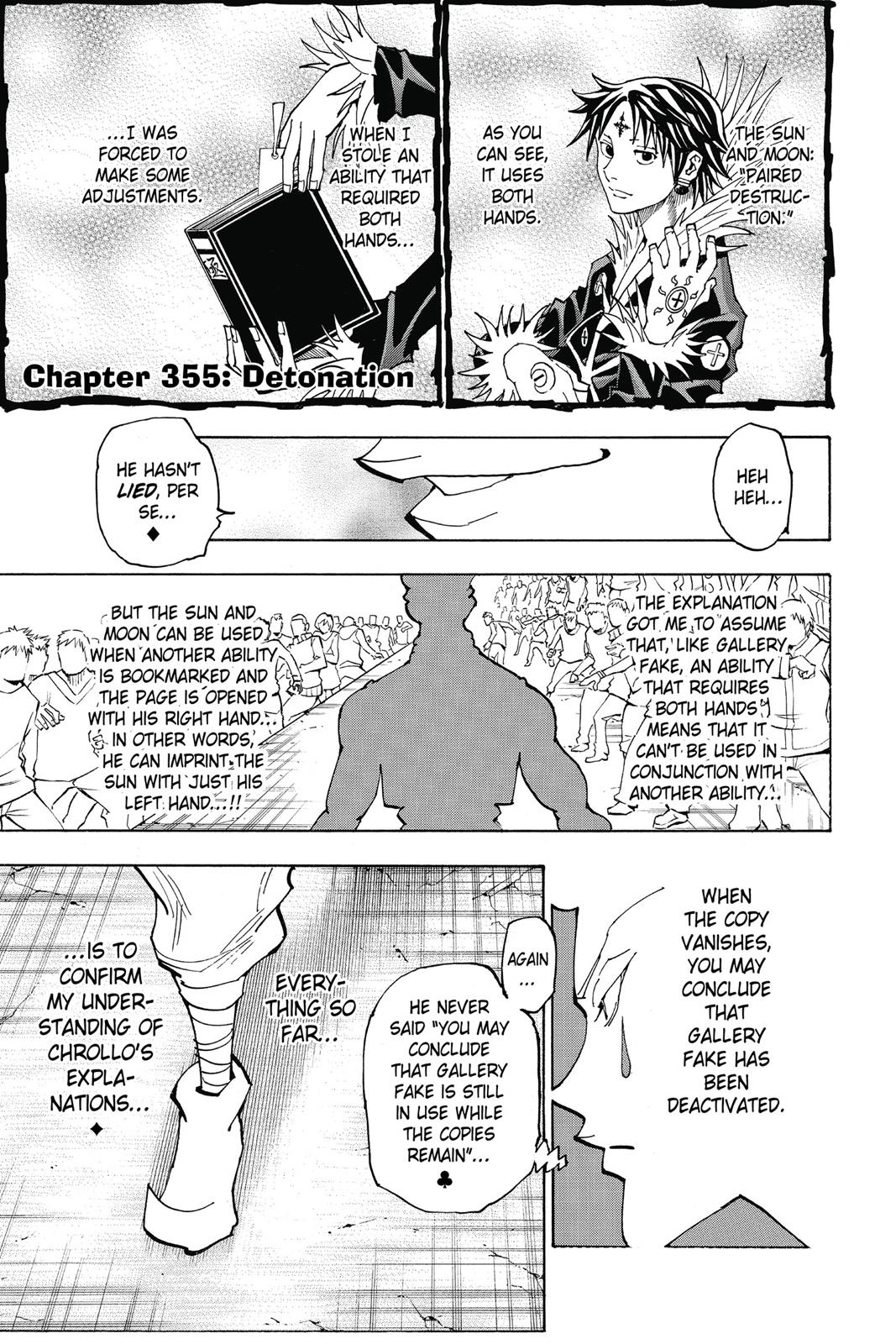 Hunter X Hunter, Chapter 355 image 001