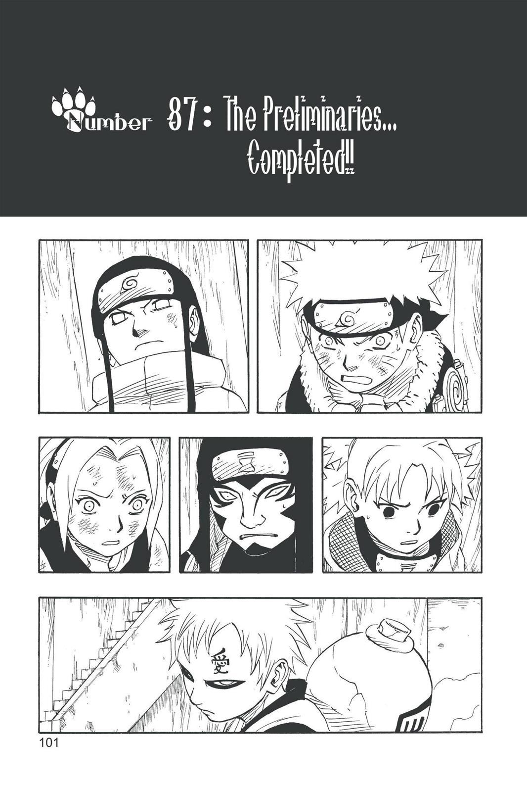 Naruto, Chapter 87 image 001