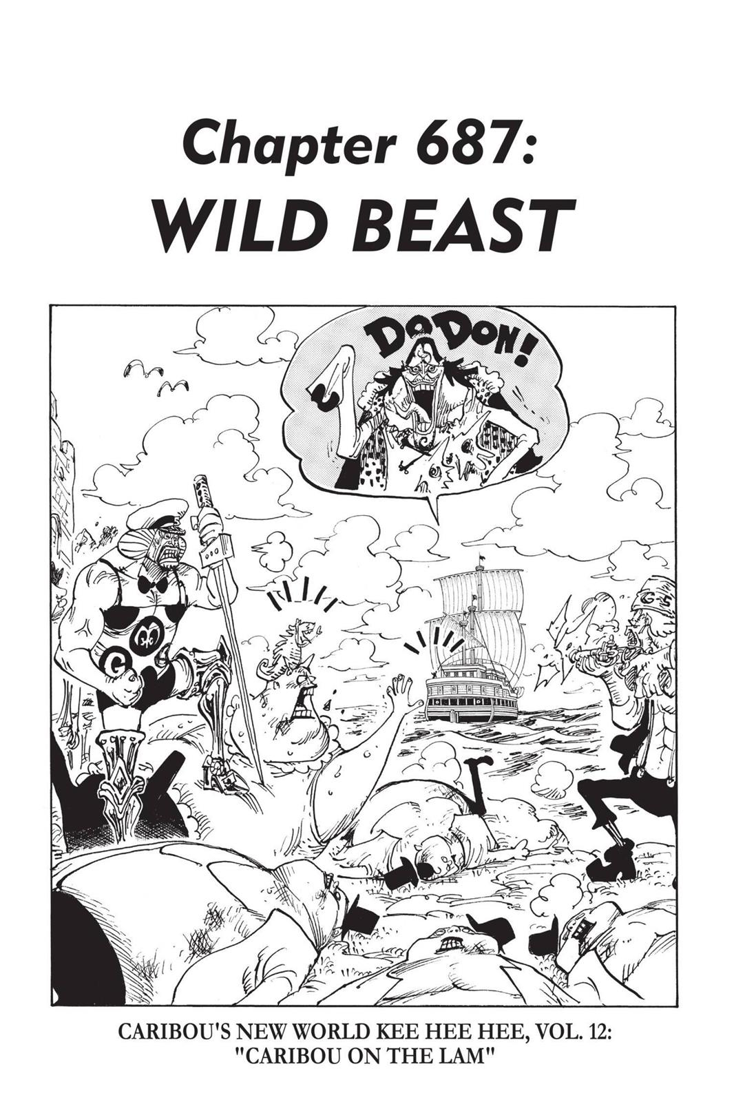 One Piece, Chapter 687 image 001