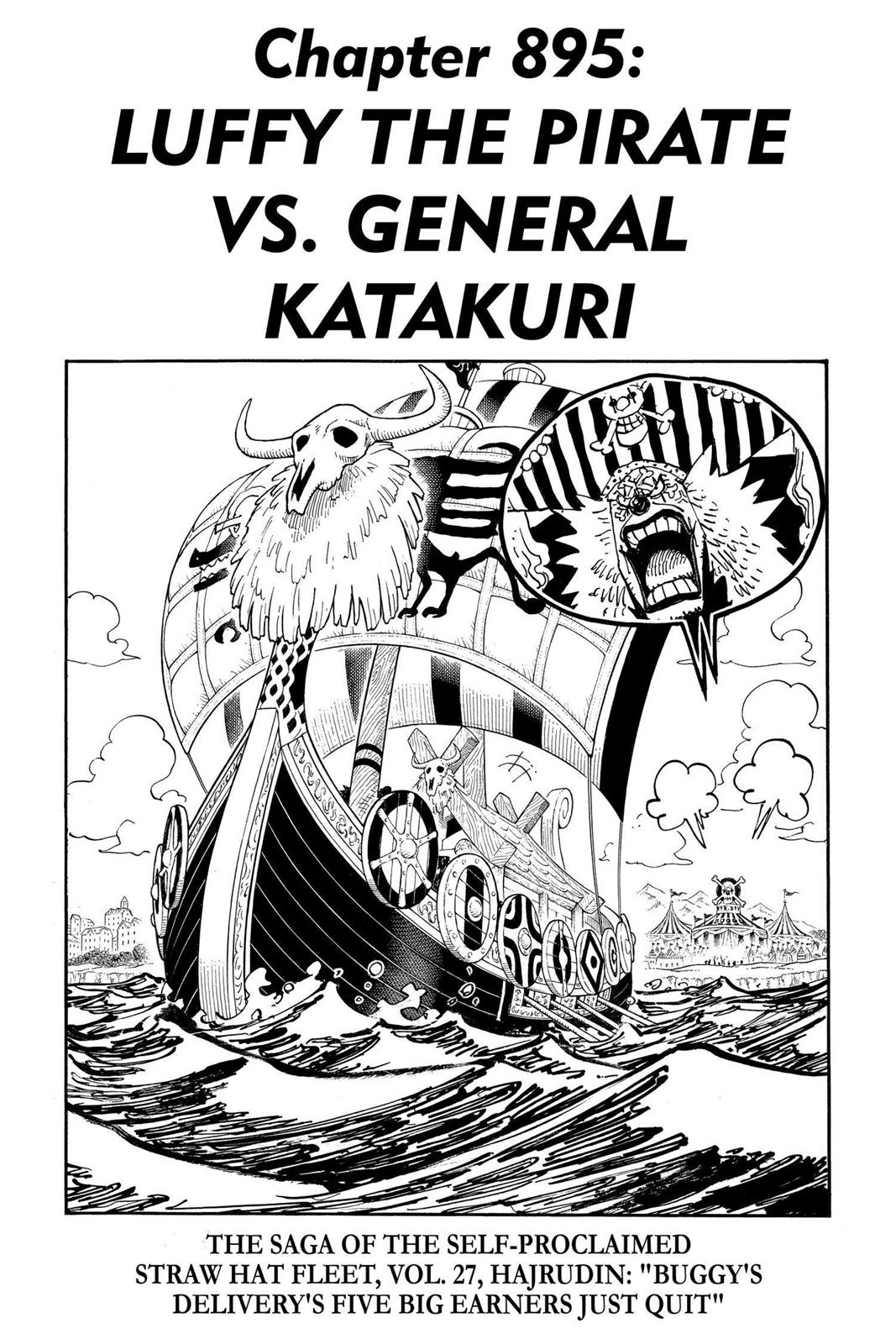 One Piece, Chapter 895 image 001