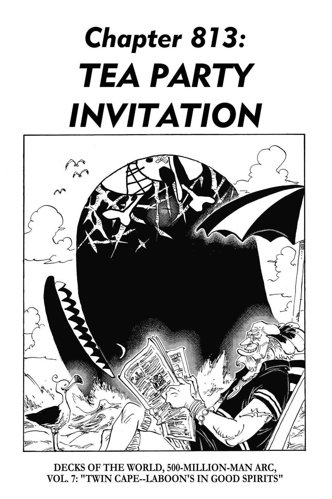 One Piece, Chapter 813 image 001