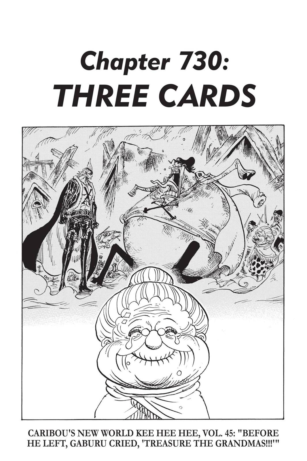 One Piece, Chapter 730 image 001