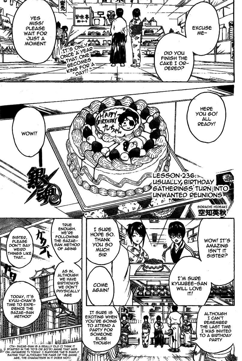 Gintama Chapter, 236 image 001