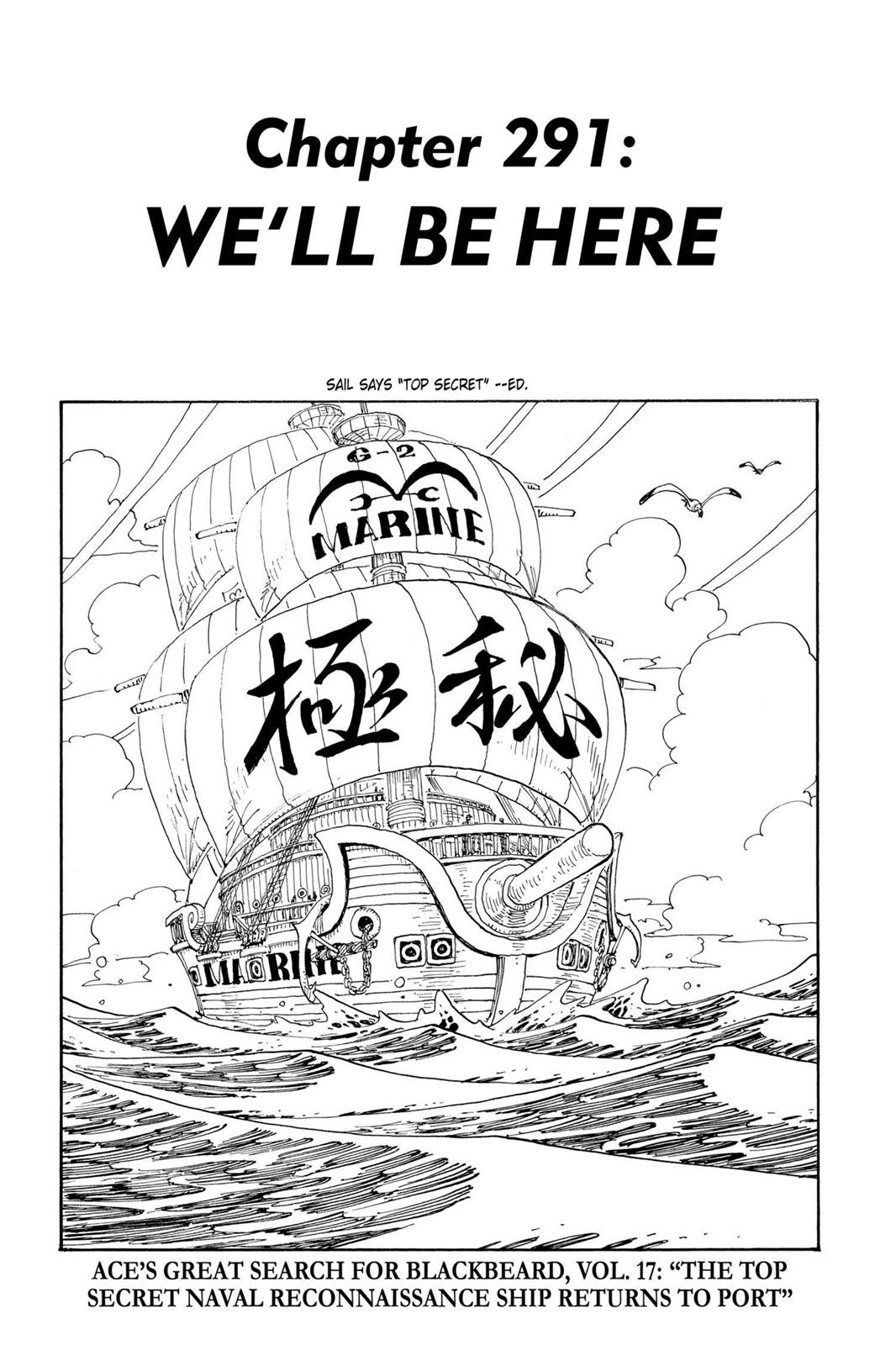One Piece, Chapter 291 image 001