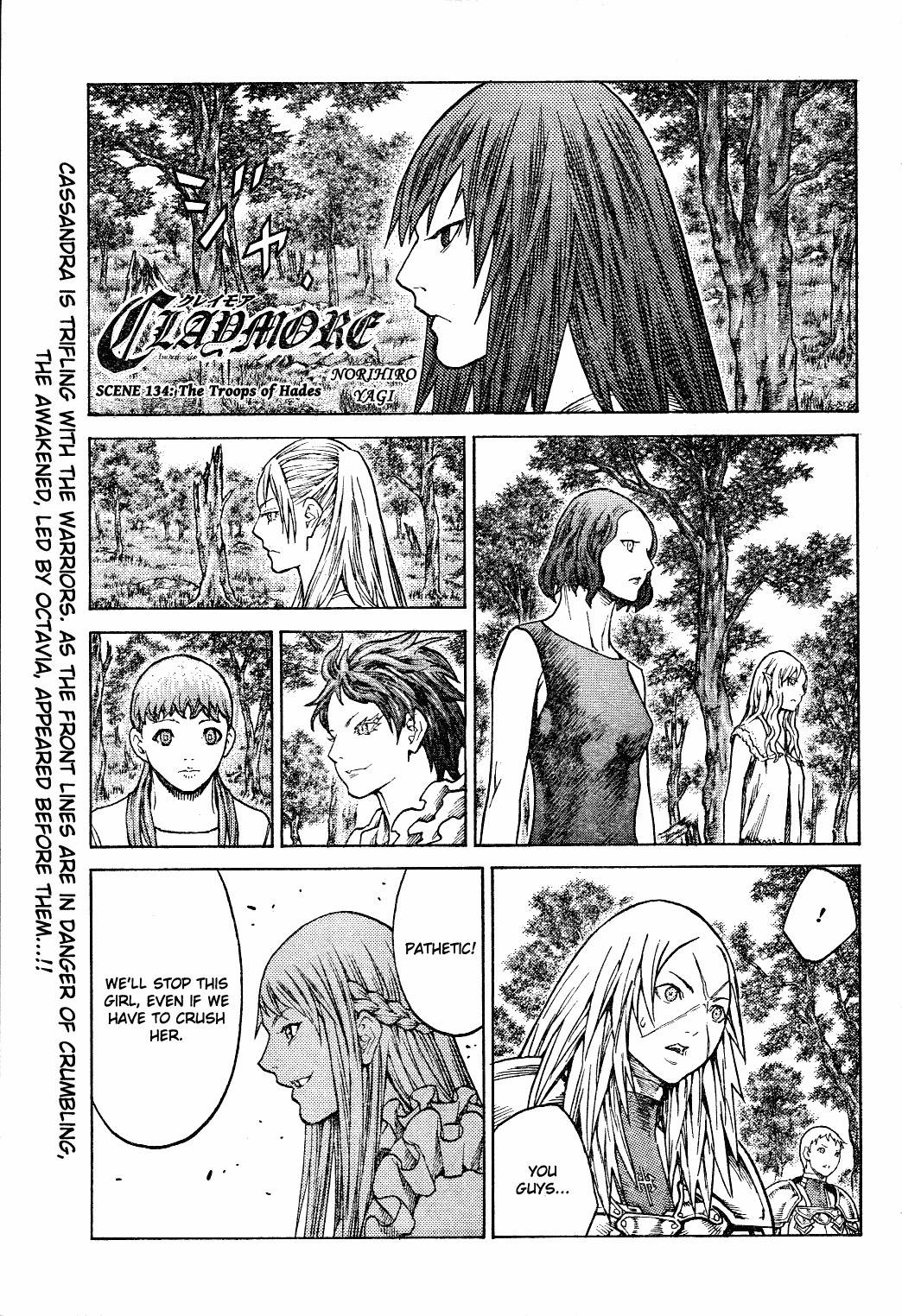 Claymore, Chapter 134 image 001