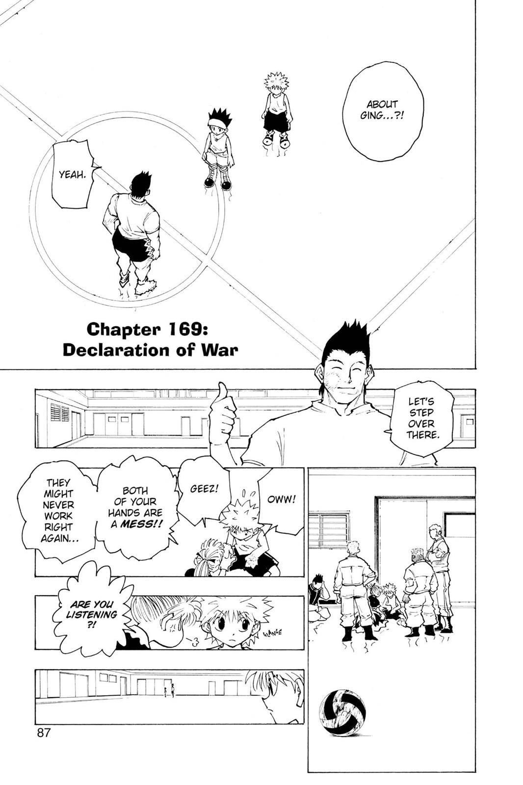 Hunter X Hunter, Chapter 169 image 001